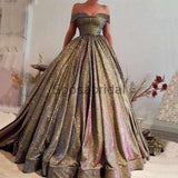 Custom A-line Sparkly Sequin Elegant Formal Modest Prom Dresses, Ball Gwon, Evening dresses PD1869