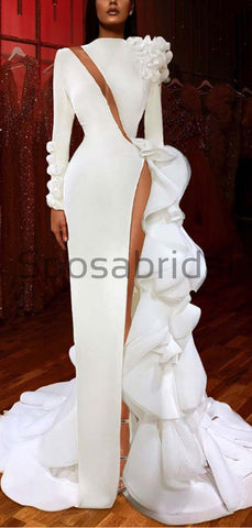 products/Custom_Mermaid_White_Long_Sleeves_Sexy_Unique_Modest_Prom_Dresses_2.jpg