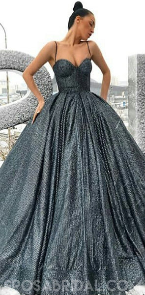 Elegant Ball Gown, A-Line Sparkly Gorgeous Formal Modest Uniques Prom Dresses, PD1160