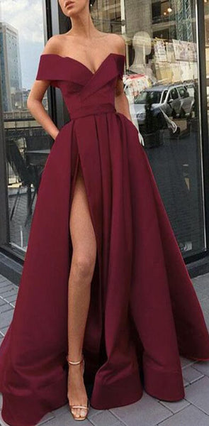 Elegant Fashion Cheap Long Women Formal Prom Dresses,Evening Gowns 2019 with Split, PD0966