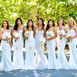 Elegant Formal Straps Sweetheart  Most Popular Mermaid Long Bridesmaid Dresses, simple prom dress, PD0468