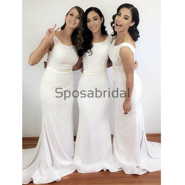 Elegant Scoop Mermaid Cheap Sleeveless Long Bridesmaid Dresses WG627