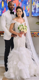 Fashion Cap Sleeves Vintage Wedding Dresses WD0616