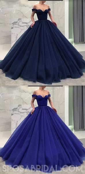 2020 Fashionable Burgundy Blue Black Green Off the Shoulder Modest Prom Dresses, Prom Gown,PD1058