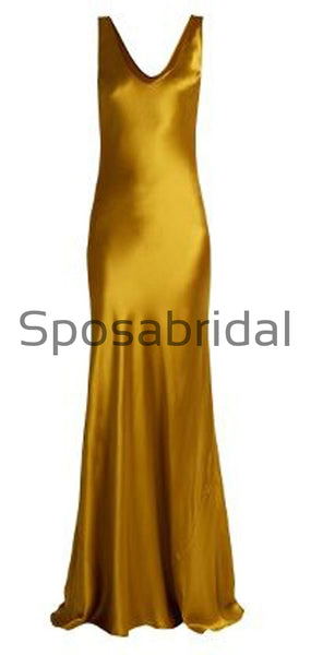 Gold Simple Cheap Formal Mermaid Fashion Prom Dresses PD2313