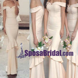 Charming Off Shoulder Elegant Mermaid Long Bridesmaid Dresses, High Quality Custom Bridesmaid dress, WG242 - SposaBridal