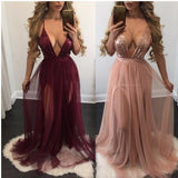 Deep V Neck Sequin  Sexy Long Popular Prom Dress, Party Dress, PD0312