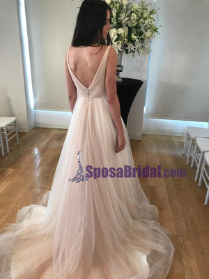 V Neck Simple Soft Fashion New Unique Fashion Handmade High Quality Prom Dresses,  PD0661