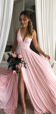 products/Long_A-line_Pink_Soft_V_Neck_Side_Slit_Modest_Simple_Bridesmaid_Dresses.jpg
