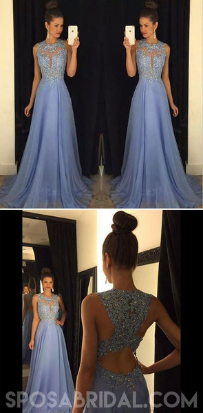 Long Chiffon Custom Made A-line  Pretty Elegant Hot Prom Dresses, 2019 Party Dress, PD1142