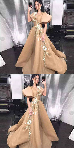 Long New Arrival Unique Design A-line Prom Dresses, Party Queen Dress, PD0355