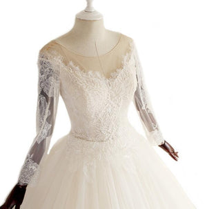 Long Sleeves Scoop Hot Selling Wedding Dresses Online, Fashion Modest Bridal Gown, WD0278