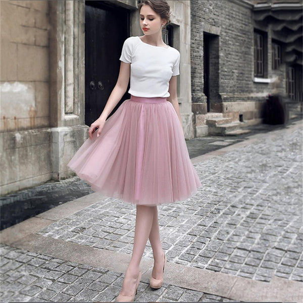 Charming Short Tulle Lovely Pink Green Prom Dresses, Teenage Prom Dress, Homecoming Dresses, PD0463 - SposaBridal