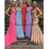 Mermaid Elegant Lace Most Popular Modest Long Prom Dresses  PD2268