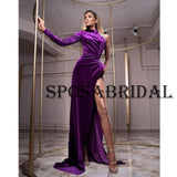 Mermaid One Shoulder Purple Elegant Prom Dresses PD2380