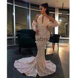 Mermaid Sequin Long Sparkly Modest Long Prom Dress PD2321