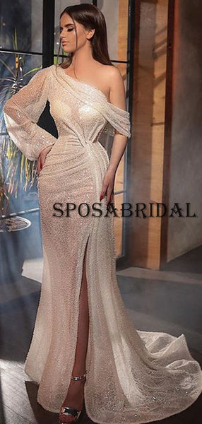 Mermaid Sequin Sparkly Fashion Long Prom Dresses for Party PD2383
