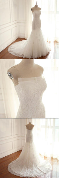 Mermaid Sexy Simple Summer Wedding Dresses, Elegant Formal Real Made Pretty Bridal Gowns , WD0279