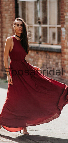 Mismatched Burgundy Summer Beach Hot Bridesmaid Dresses WG816