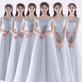Mismatched Different Style Tulle Popular  New Design Bridesmaid Dresses ,  PD0282