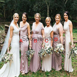 Mismatched Elegant Fashion Pink Long Bridesmaid Dresses WG819