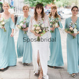 Mismatched Light Blue Summer Beachn Long Bridesmaid Dresses WG821