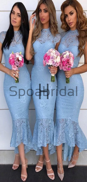 Mismatched Mermaid Unique Short Bridesmiad Dresses WG758