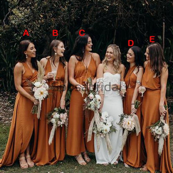 Mismatched Simple Popular Country Hot Sale Cheap Bridesmaid Dresses WG639