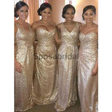 Mismatched Sparkly Sequin Mermaid Long Modest Bridesmaid Dresses WG653