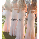 New Arrival Pink Mermaid Unique Charming Formal Bridesmaid Dresses WG860