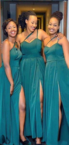 New Style A-line Simple Bridesmaid Dresses With Split WG903