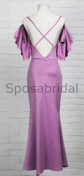 New Arrival  Open Back Unique Design Elegant Prom Dresses, Simple Bridesmaid Dresses PD1638