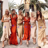 Newest Charming Mismatched Cheap Long Formal Bridesmaid Dresses WG861