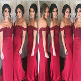Off Shoulder Long Mermaid Modest Popular Formal Custom Free Hot Sale Bridesmaid Dresses ,WG361