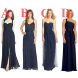 Navy Different Style New Arrival Cheap Custom Most Popular Bridesmaid Dresses , PD0286