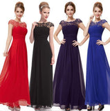 Colorful Chiffon Lace Applique A-line Floor-length Bridesmaid Dresses , wedding guest dress ,PD0298