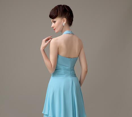 Unique Sexy Mermaid Blue Mismatched Charming Inexpensive Long Wedding Party Dresses , WG097