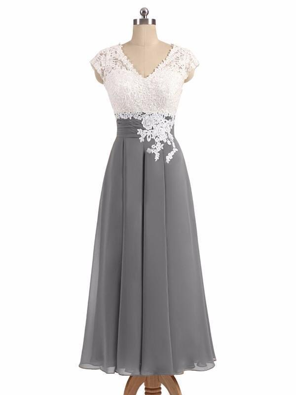 Chiffon Long Lace  V-Neck Cheap Most Popular Bridesmaid Dress, Prom Dress, PD0372