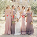 Simple Mismatched Newest Bridesmaid Dresses, Popular Custom Cheap Bridesmaid Dress, BPD0479