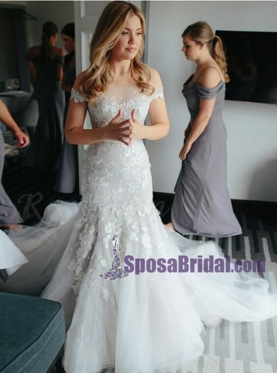 Off Shoulder Lace Beautiful New Unique Design Wedding Dresses, Bridals gowns online, WD0261