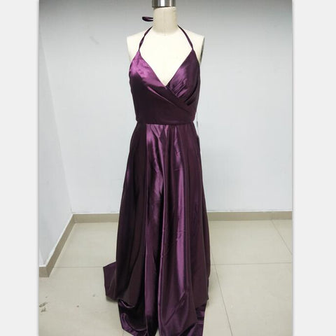 Discount Cheap Short in Size In Stock Purple Spaghetti Straps Prom Dresses Online,DD005