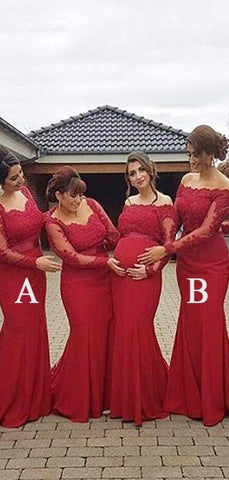 products/Red_Lace_Mermaid_Long_Sleeves_Mismatched_Long_Wedding_Bridesmaid_Dresses_WG257.jpg