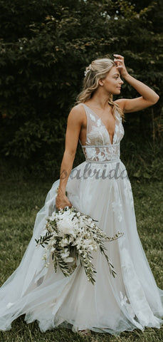 products/See_Through_Lace_Ivory_Tulle_V-neck_V-back_Beach_Wedding_Dresses_DB0160-3.jpg