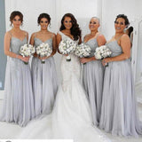 Sexy Colorful Pretty Fashion Spaghetti Straps Appliques Long Bridesmaid Dresses, New Arrival Wedding Party Dresses, WG310