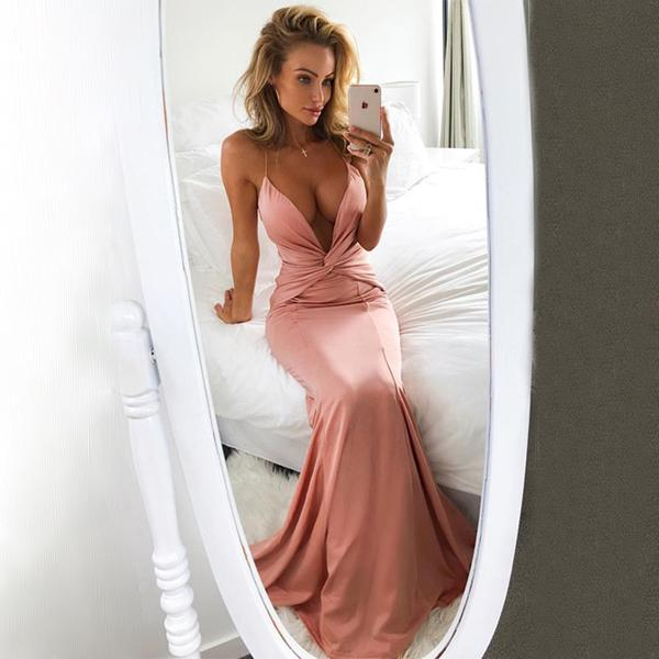 Sexy Long Simple Soft Elegant Modest Mermiad Prom Dresses, evening party dress, PD0789
