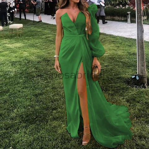 products/Sexy_V-neck_Unique_Formal_Single_Green_Sleeve_Long_Prom_Dresses_Evening_Dresses.jpg
