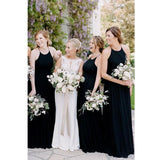 Simple Custom Made Popular Halter Long Bridesmaid Dresses, Wedding Party Dresses, WG521