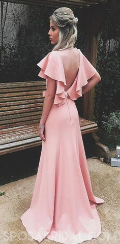 products/Soft_Gorgeous_Sheath_V-Neck_Ruffled_Sleeves_Split_Pink_Long_Prom_Dresses_Evenign_Dress_2.jpg