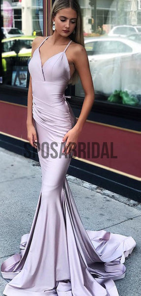 Spaghetti Straps Mermaid Elegant Long Prom Dresses PD2283