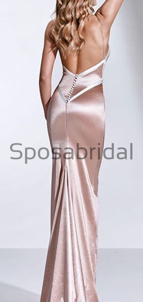 Spaghetti Straps Simpler Mermaid Modest Prom Dresses PD2246